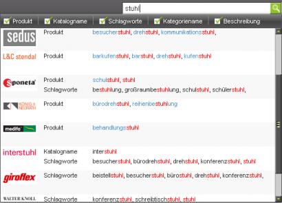 pCon.catalog Portal mit neuer Navigation