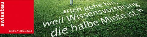 Banner der Swissbau 2012
