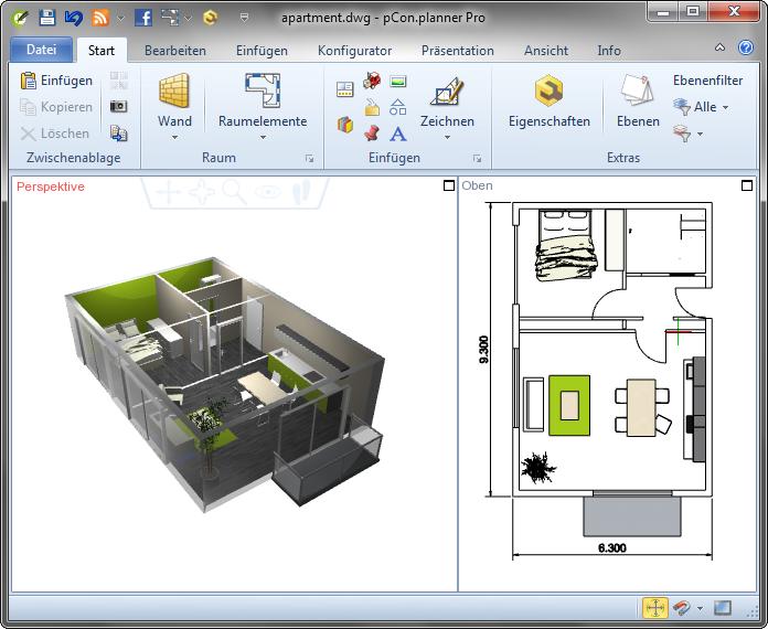professioneller 3d raumplaner pcon blog. Black Bedroom Furniture Sets. Home Design Ideas