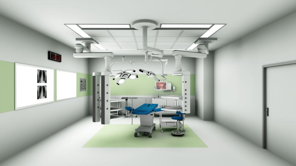 OP-Saal: Geplant und visualisiert mit dem pCon.planner