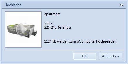 Anzeige der Größe des Upload-Pakets