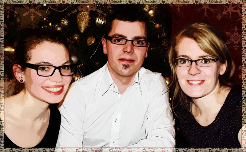Fröhliche Weihnachten! Euer pCon-Blog-Team: Anna, Micha und Helen.