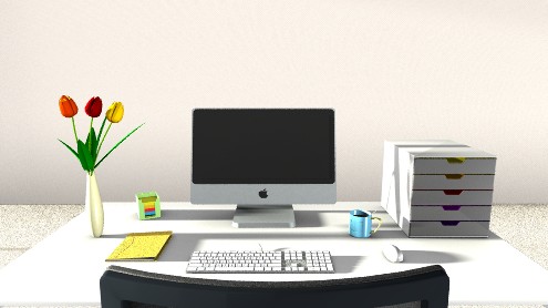 Holen Sie den Frühling ins Büro