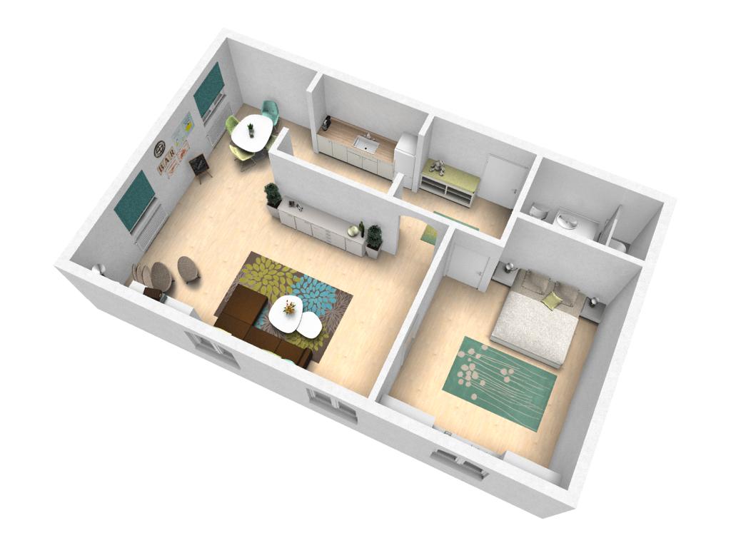Musterplanung zum ausprobieren pcon blog for Wohnung einrichten 3d planer
