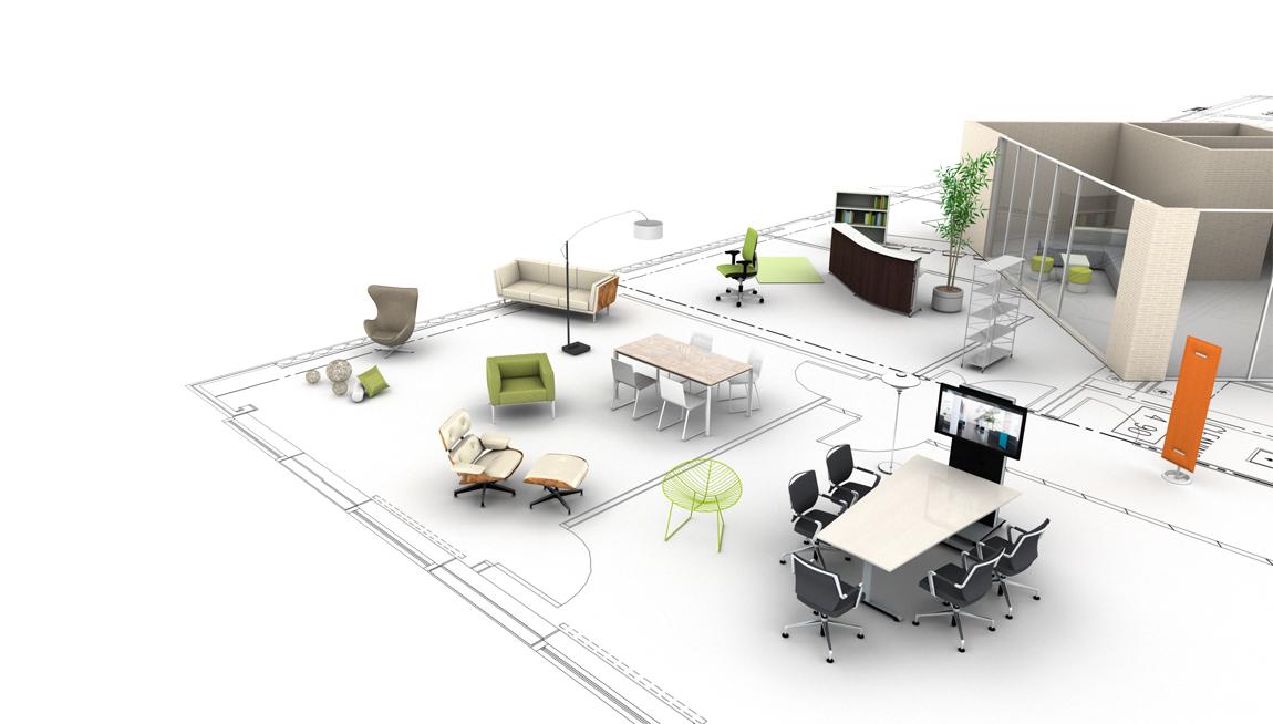 Mit dem pCon.planner werden aus Grundrisse 3D-Planungen