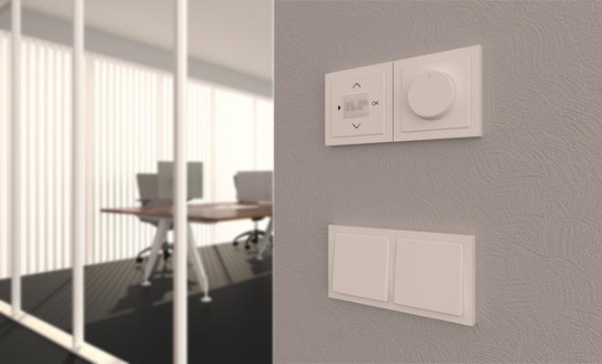 Lichtschalter und Thermostate gibt es im Katalog für Wandobjekte