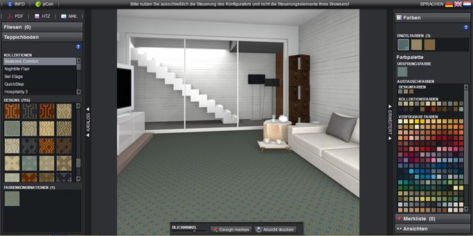 Teppiche individuell konfigurieren