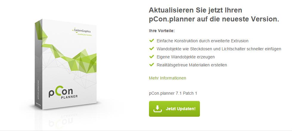 pCon.planner Update Seite