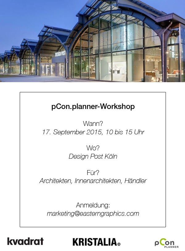 Eckdaten zum pCon.planner-Workshop in der Design Post Köln