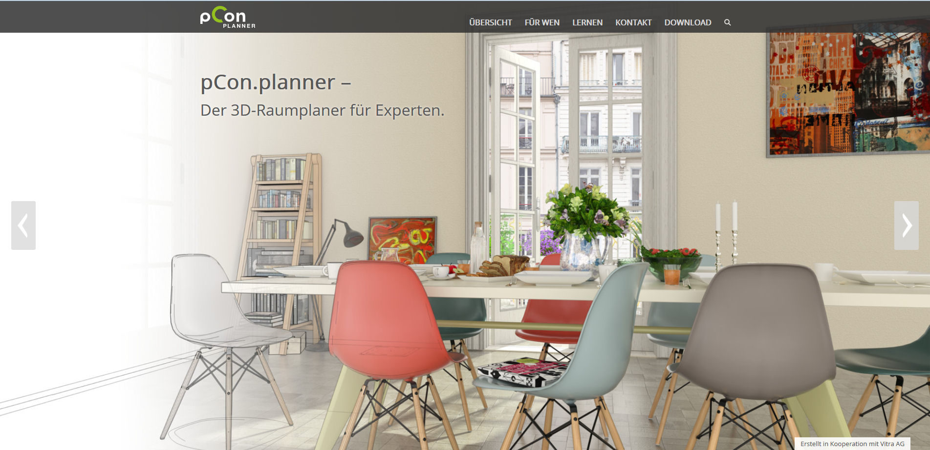 Neue pCon.planner Webseite veröffentlicht