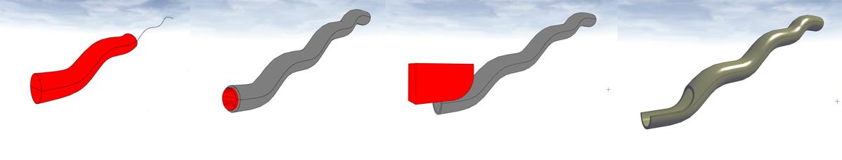 Schritt frü Schritt zur Röhrenrutsche im kostenlosen 3D-Raumplaner