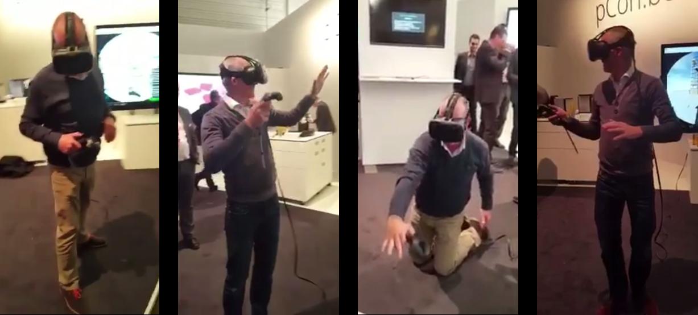 Mit der VR-Brille auf dem Kopf ist man in eine ganz neuen Welt.