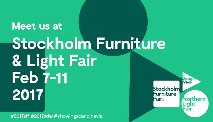 Besuchen Sie uns auf der Stockholm Furniture Fair 2017