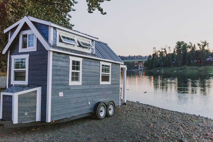 Mobiles Tiny House mit schöner Aussicht