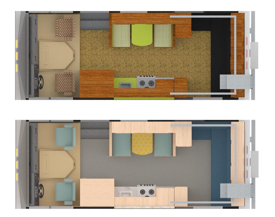 Wohnwagen planen im pCon.planner - Vorher-Nachher-Vergleich