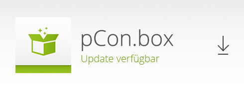pCon.box – Appdate für Windows Vertrieb pCon.box