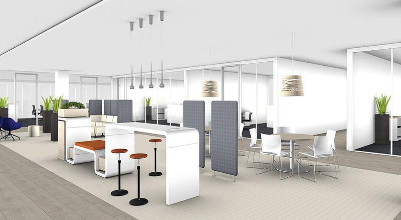 Die Mittelzone – kreatives Zentrum offener Arbeitslandschaften pCon Mittelzone Kreativzentrum