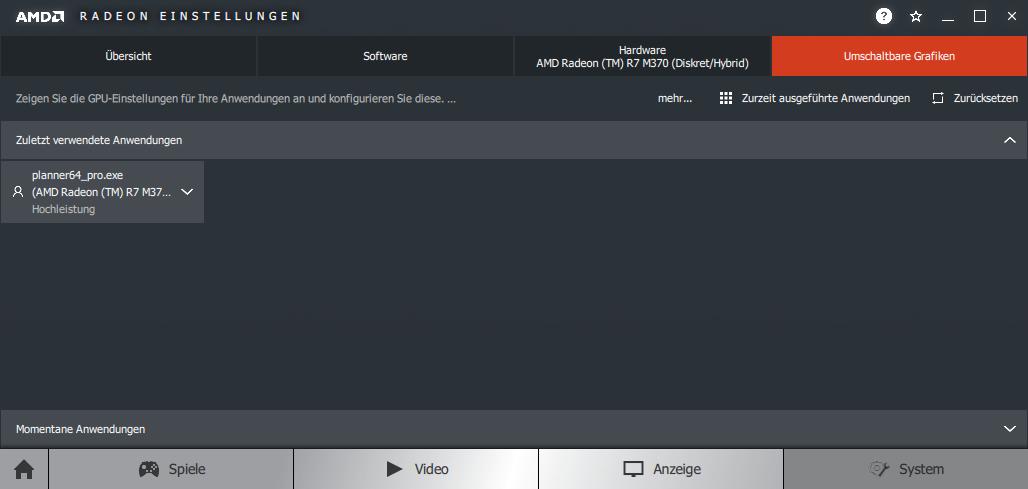 So lösen Sie Darstellungs  und Performanceprobleme im pCon.planner Nvidia Grafikkarte AMD