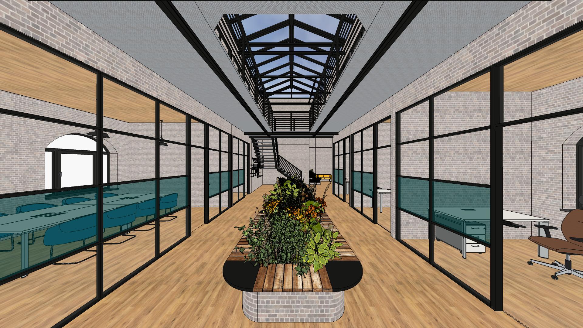 Bürogebäude im Industrial Style