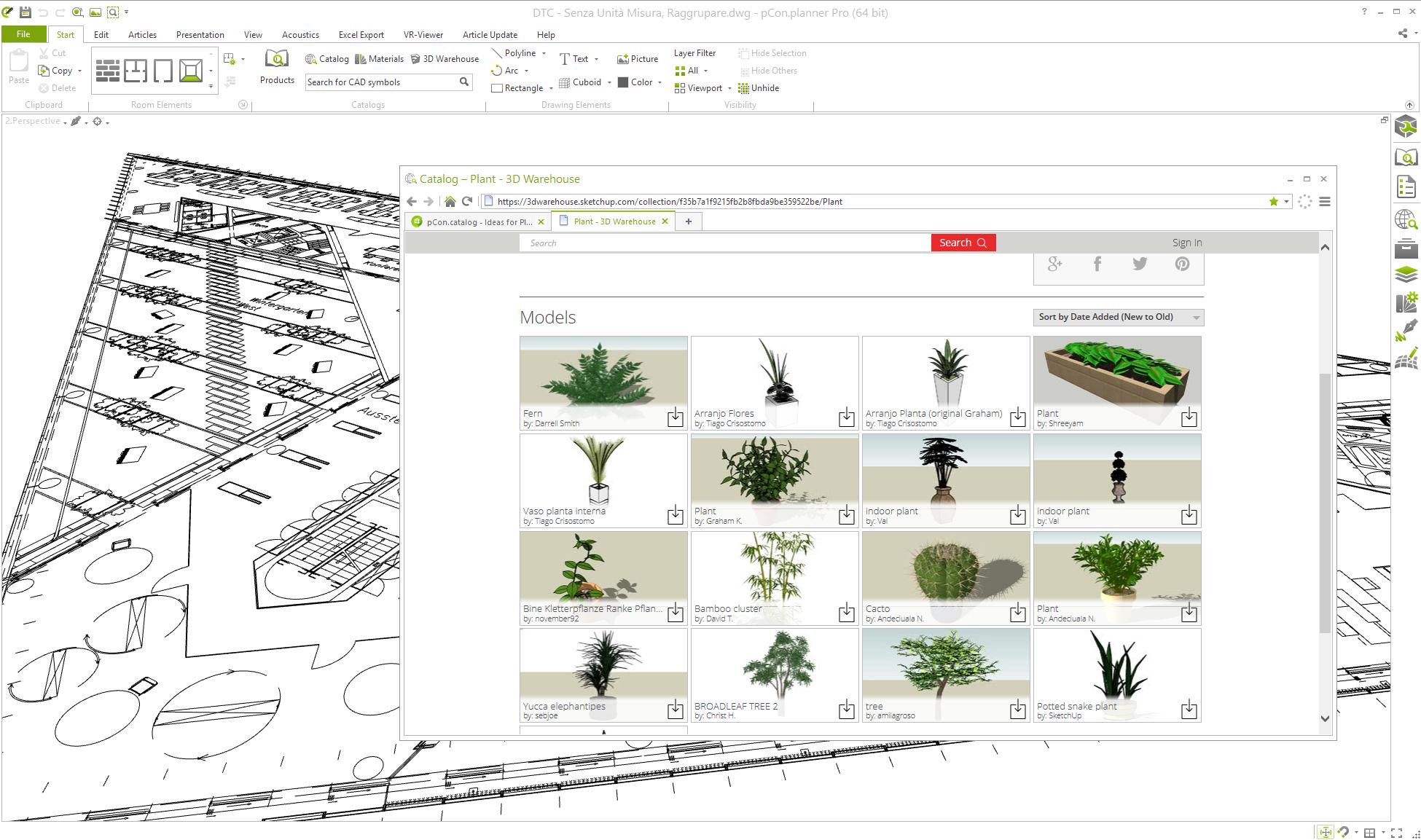3d warehouse | 3d raumplaner - inneneinrichtung - design software – dwg