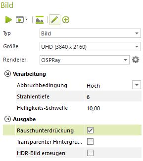 pCon.planner 8.1 – Renderings ohne Rauschen und Artefakte pCon.planner Denoiser 8.1