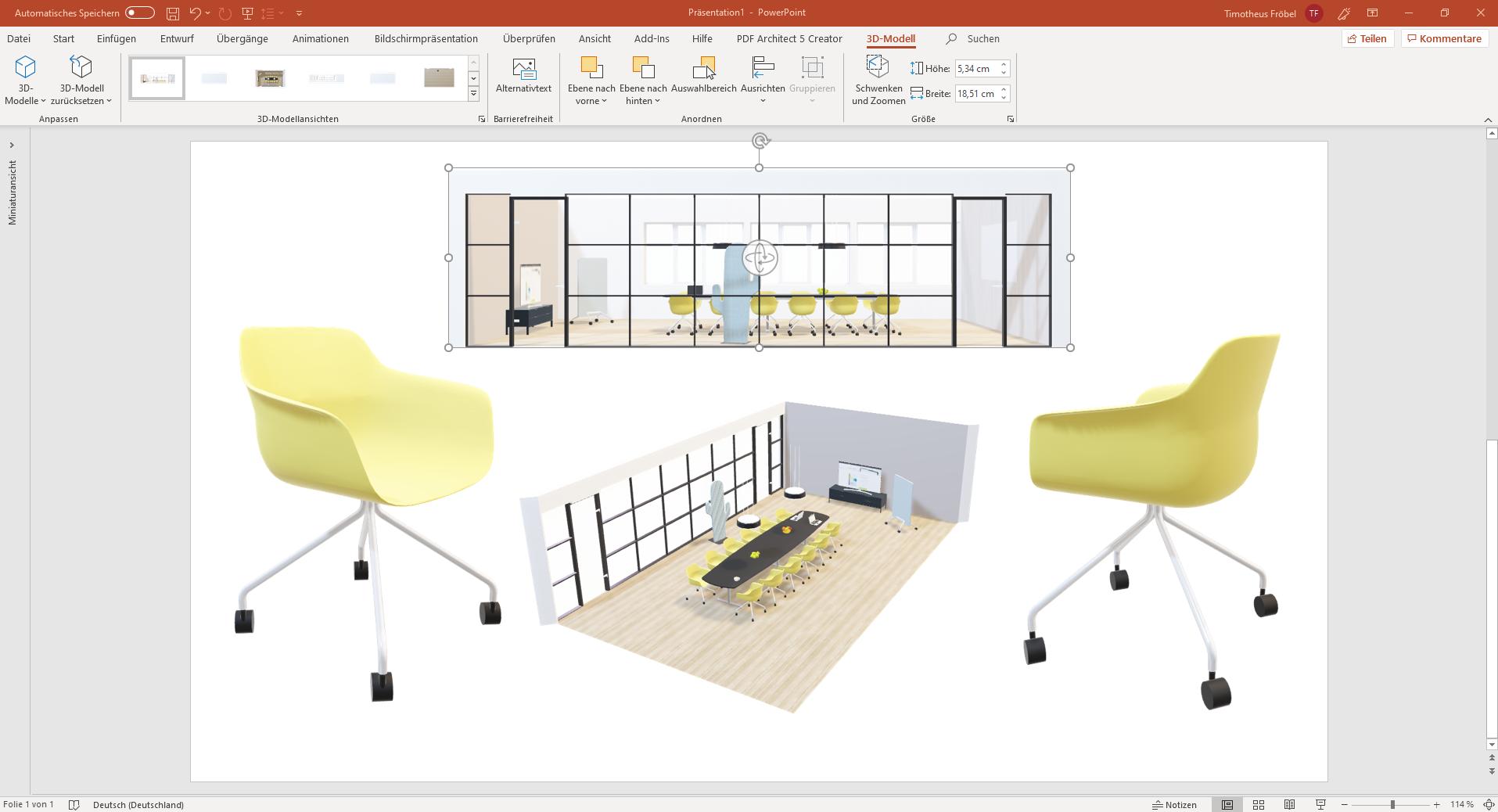 pCon.planner 8.2 – mit 3D Inhalten in Microsoft PowerPoint überzeugen PowerPoint pCon.planner 8.2 3D Modelle
