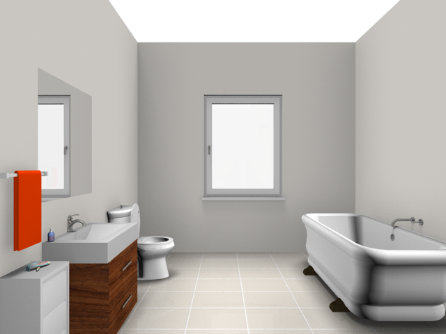 Rendered image: bathroom ...