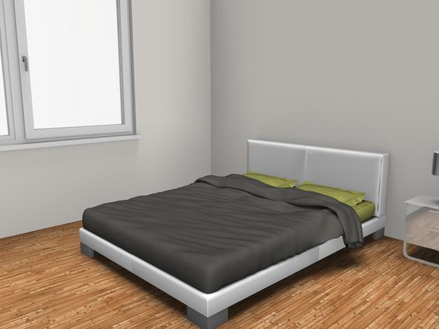 Rendered image: bedroom