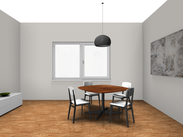 Rendered image: dinette