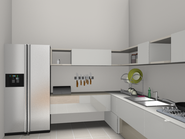 Rendered image: kitchen