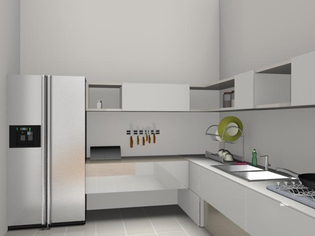 Rendered image: kitchen