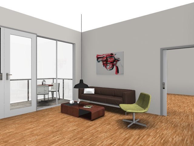 Rendered image: living room