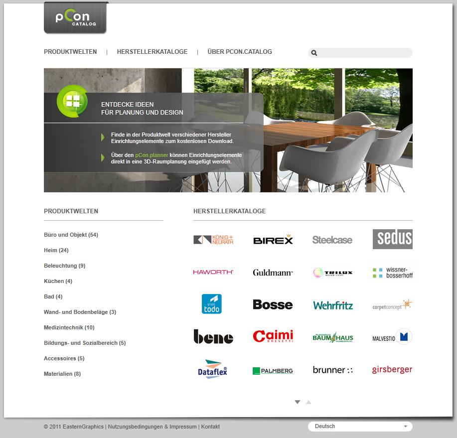 pCon.catalog - home page