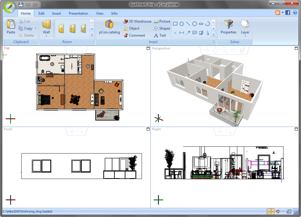 3d design software with history pcon blog for Architecture planning software