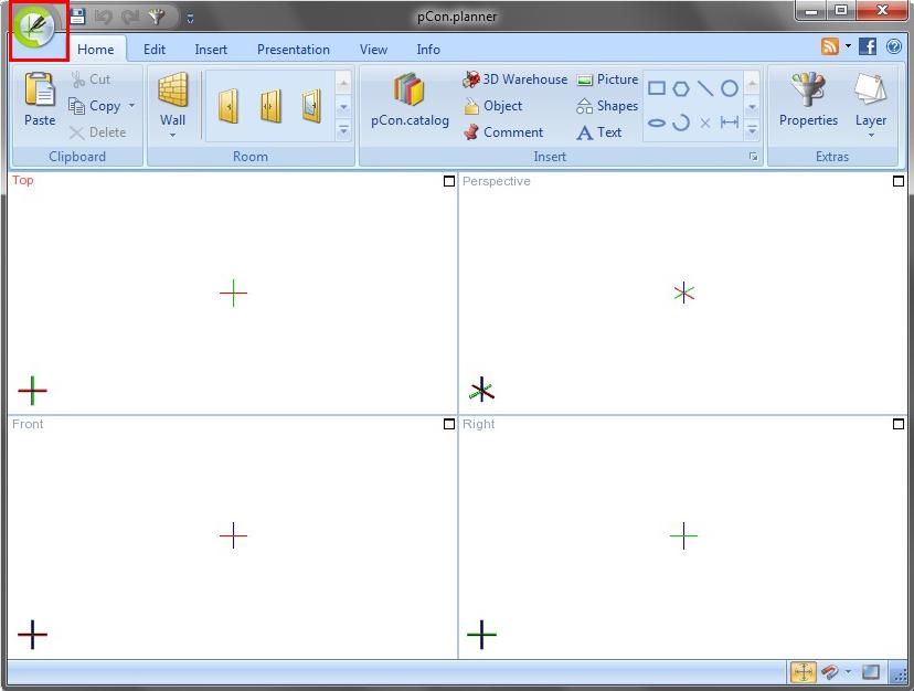 pCon.planner 6.3_applicationmenu