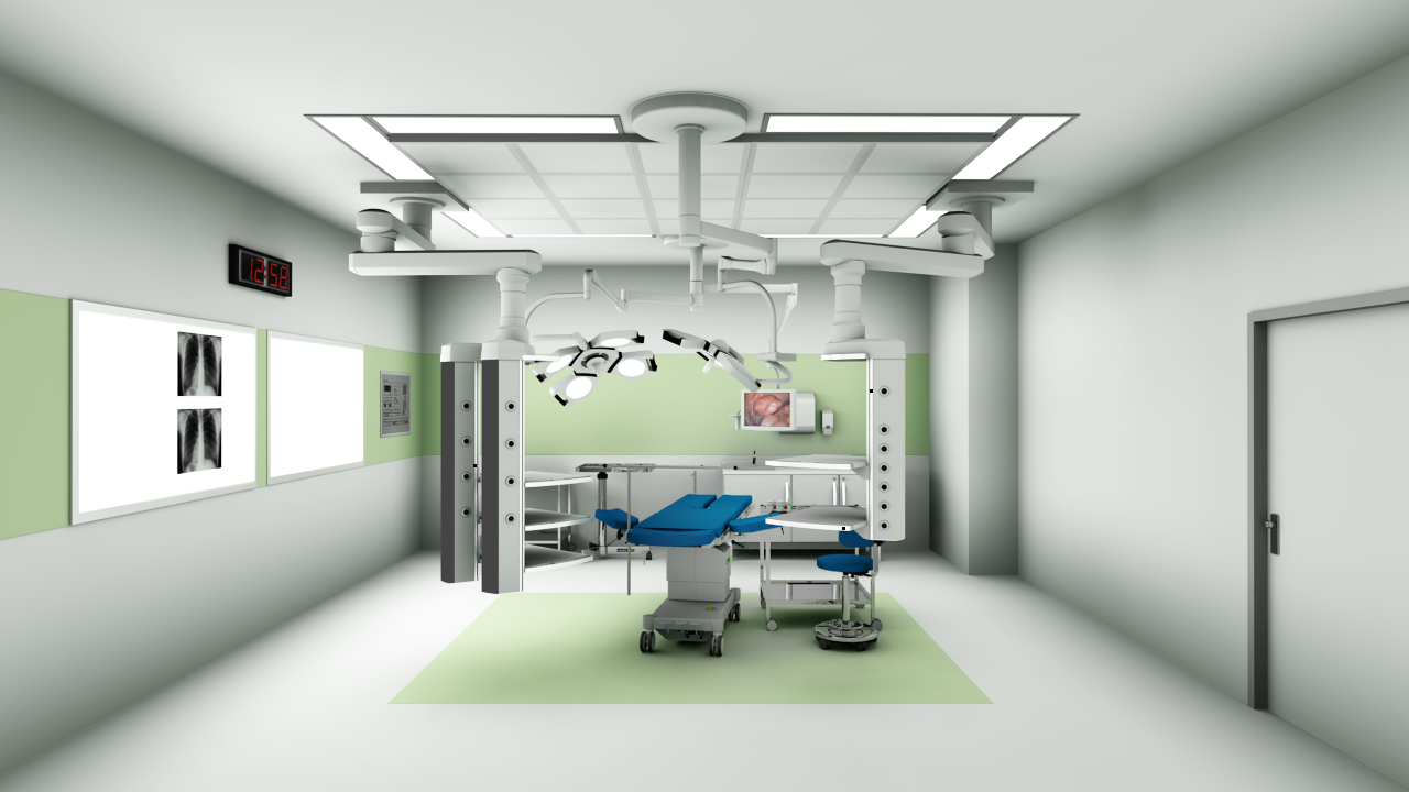 Operating room: Planned and visualized in pCon.planner