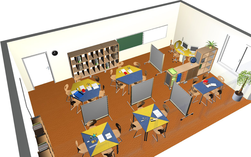 Real-time rendering of a room planned by Wehrfritz