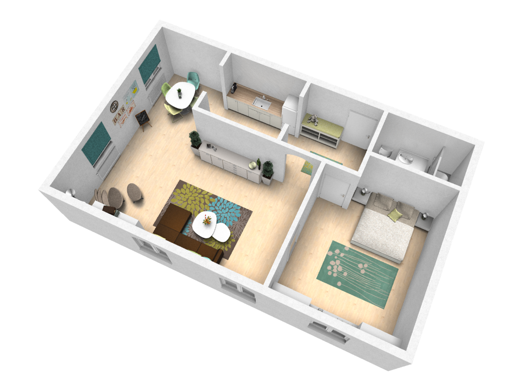 Try out your ideas in our sample apartment pcon blog 3d planner