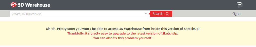 Solution for Current Issues with 3D Warehouse
