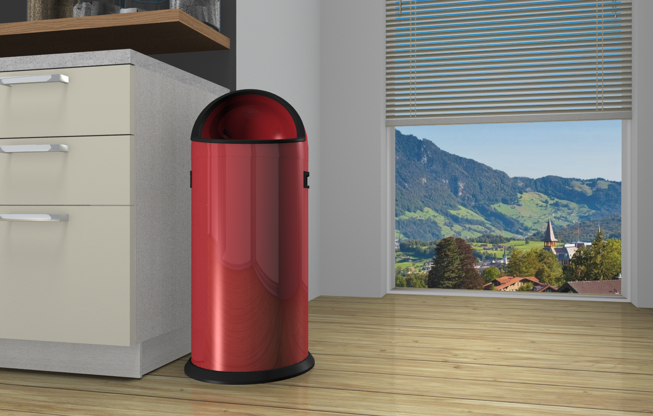 Bin by Hailo next to a kitchen unit