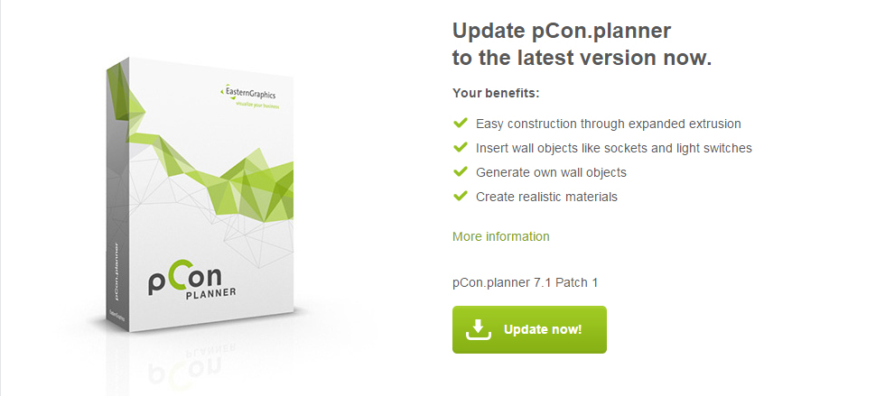 pCon.planner Update Page