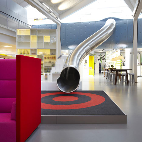 Lego office slide in Billund, Denmark