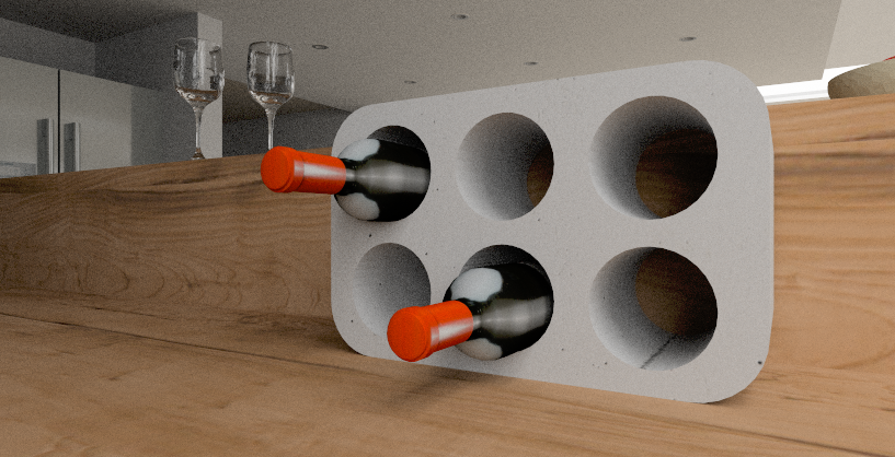 Wine rack built in pCon.planner with the help of the construction functions
