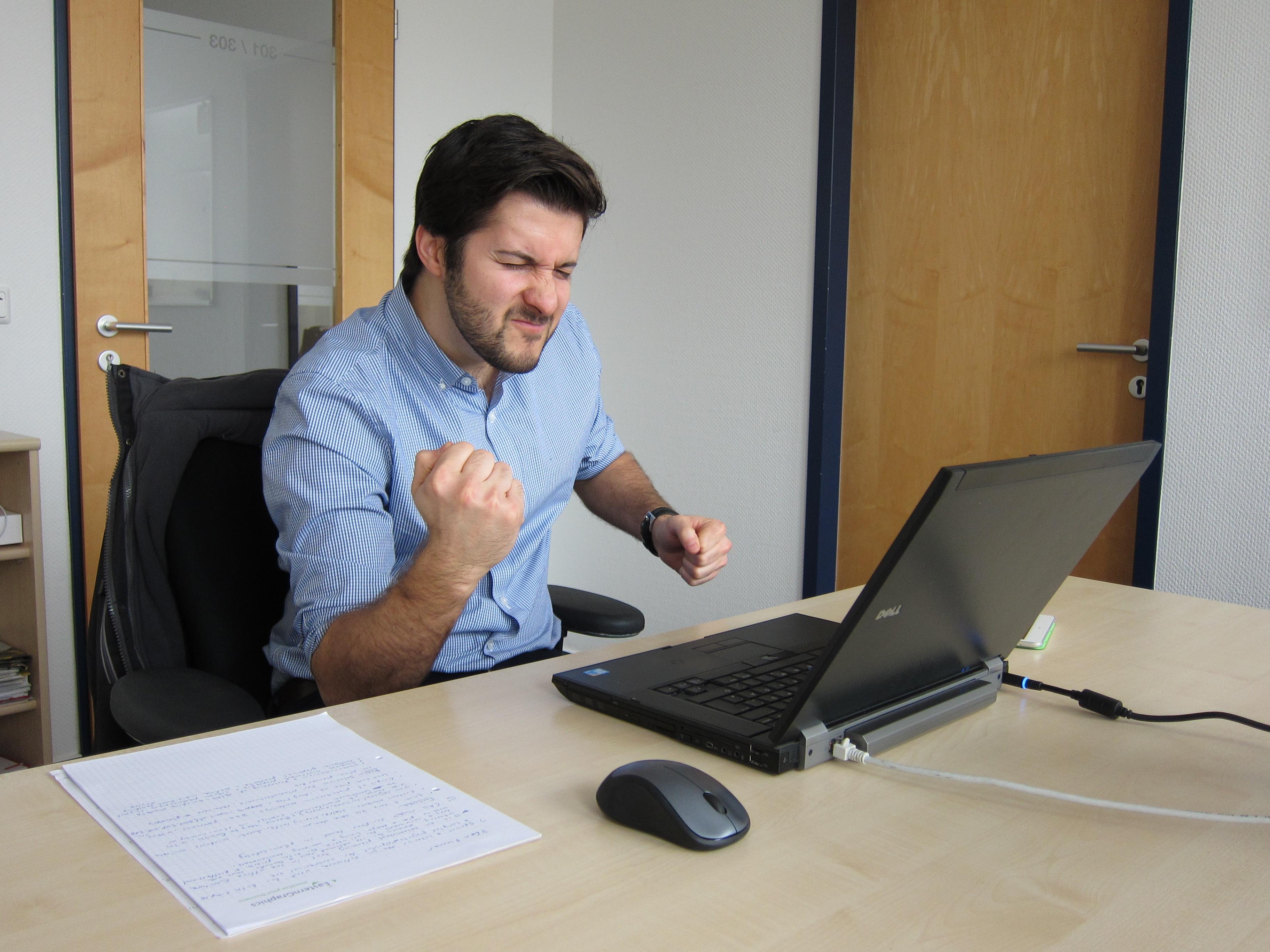 Rob at his desk