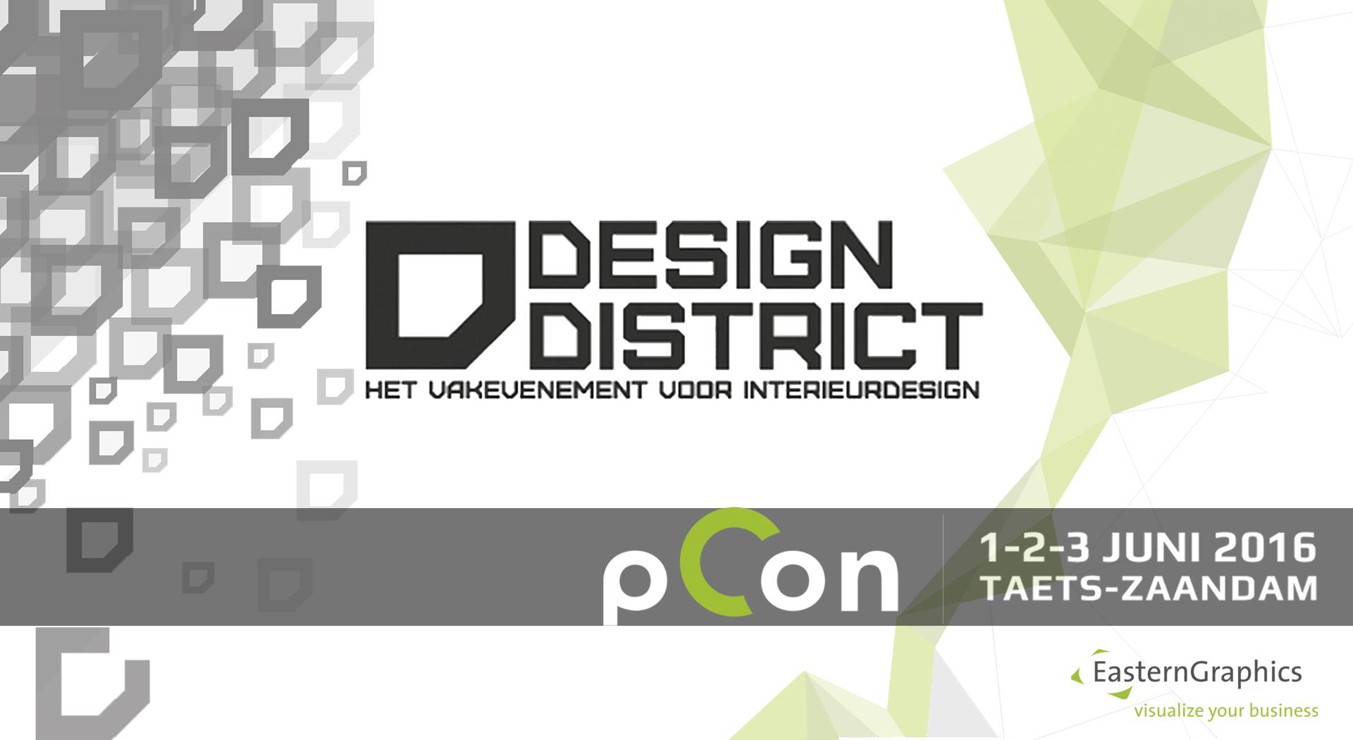 EasternGraphics auf der Design District Zaandam 2016 pCon.planner Messe Events Design District