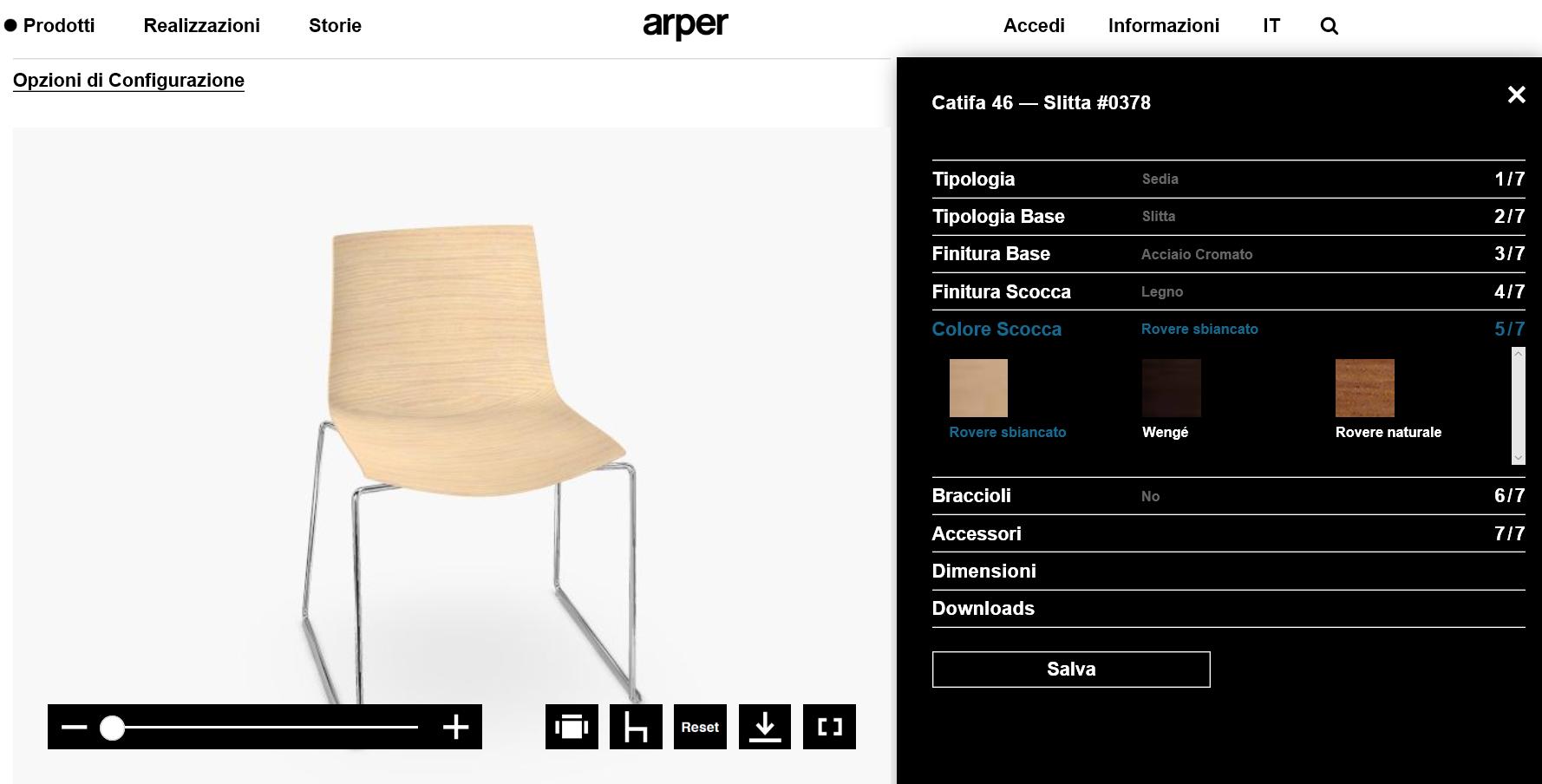 Arper Launches New Online Configurator pCon.planner configuration 3D CAD Models