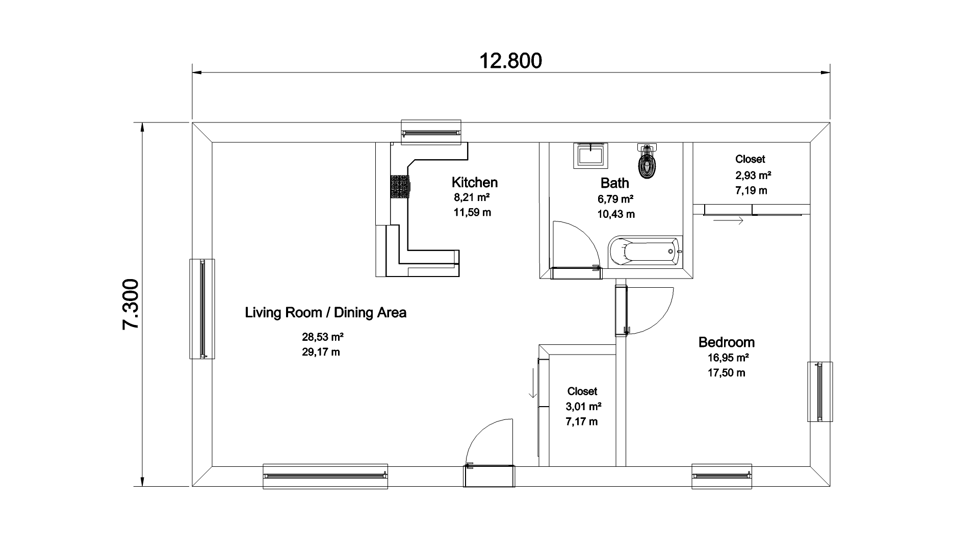 Creating floor plans for real estate listings pcon blog for Roommate floor plan
