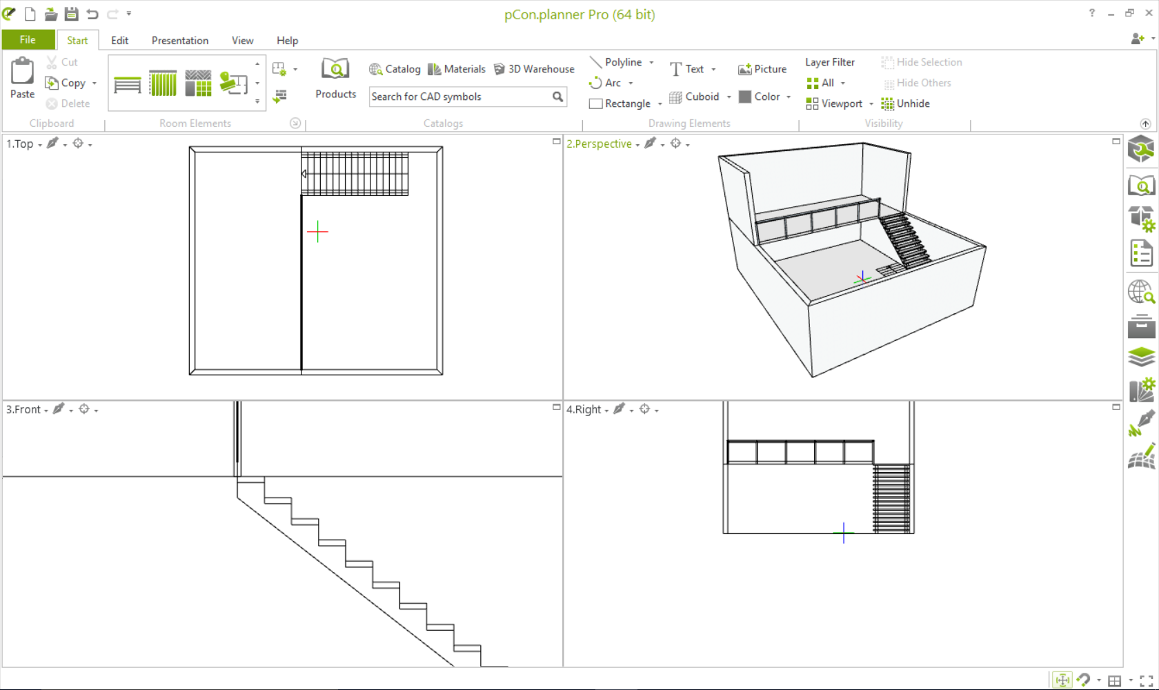 The View from Above: Creating Mezzanines and Lofts room planning pCon.planner construction