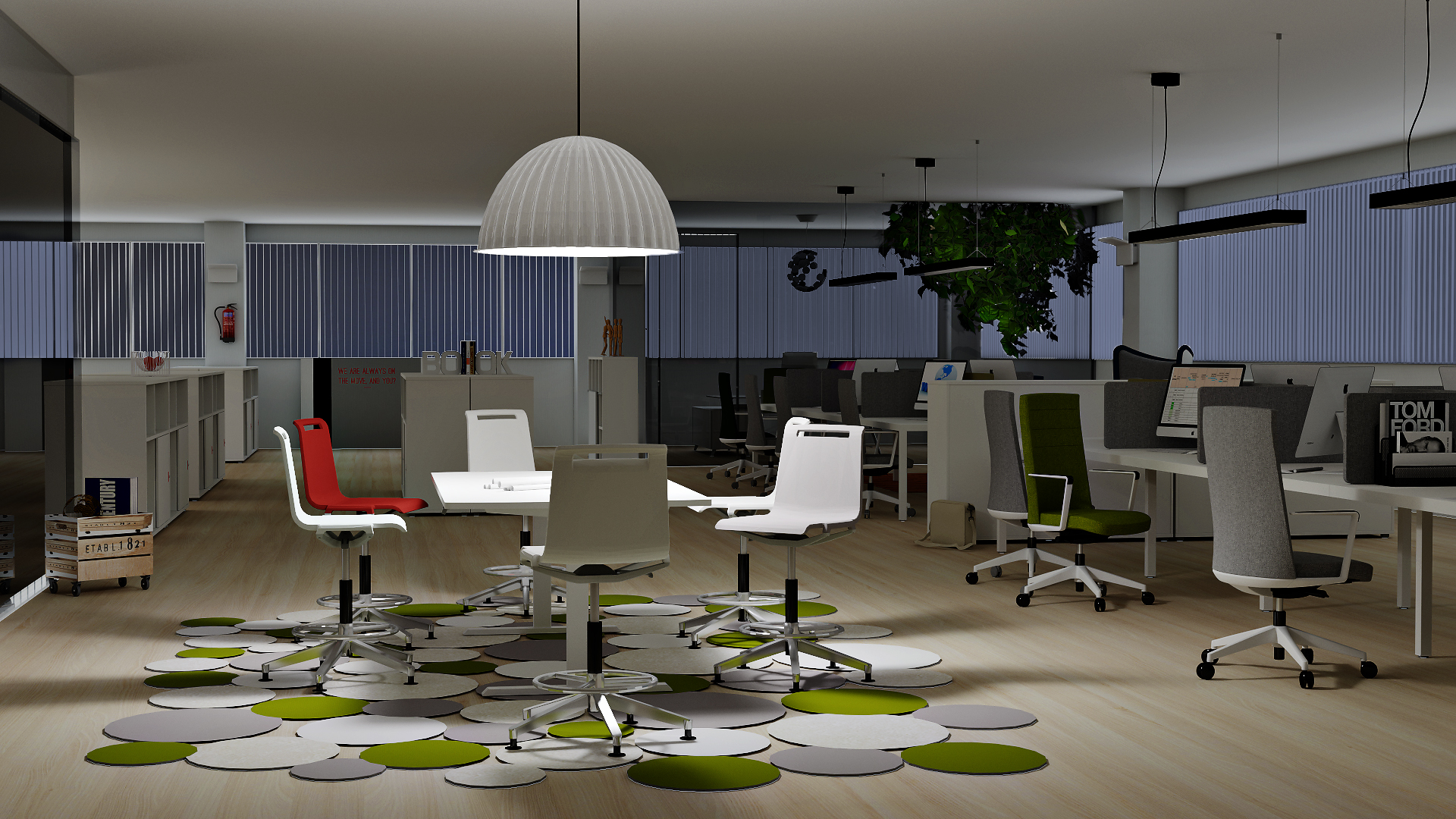 The Power of OSPRay: Realistic Renderings from Actiu rendering pCon.planner OSPRay