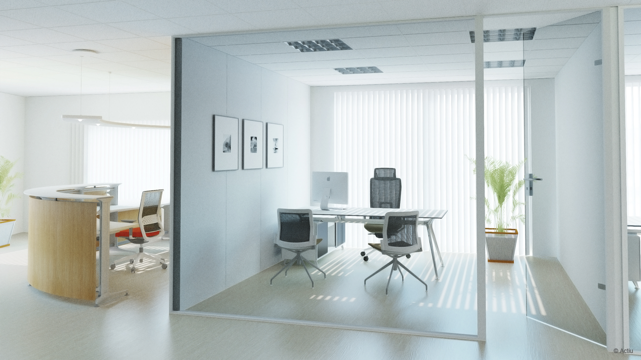 Realistic ospray rendering from actiu pcon blog for 3d office planner